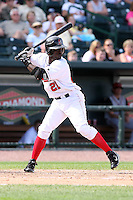 June 15th 2008:  Jovanny Rosario of the Great Lakes Loons, Class-affiliate of the Los Angeles Dodgers, during a game at Dow Diamond in Midland, MI.  Photo by:  Mike Janes/Four Seam Images