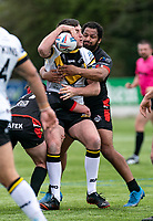 Dan Hindmarsh of London Broncos during the Betfred Challenge Cup match between London Broncos and York City Knights at The Rock, Rosslyn Park, London, England on 28 March 2021. Photo by Liam McAvoy.