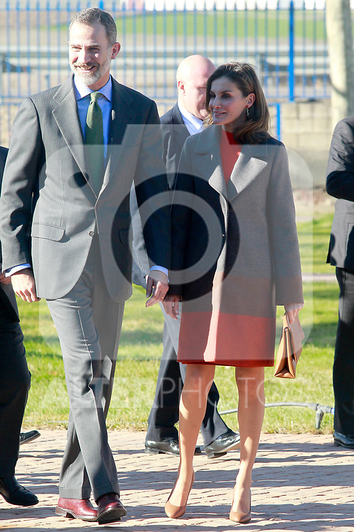 King Felipe VI of Spain and Queen Letizia of Spain during the visit to the facilities of the Spanish sportswear company JOMA Sports. January 19, 2018. (ALTERPHOTOS/Acero)