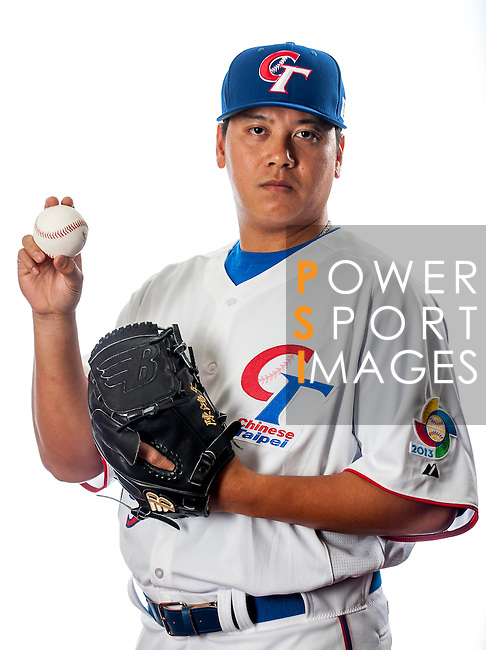 Chen, Hung-Wen of Team Chinese Taipei poses during WBC Photo Day on February 25, 2013 in Taichung, Taiwan. Photo by Victor Fraile / The Power of Sport Images