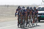 Champion System team warms up before the 2nd Stage of the 2012 Tour of Qatar an 11.3km team time trial at Lusail Circuit, Doha, Qatar. 6th February 2012.<br /> (Photo Eoin Clarke/Newsfile)