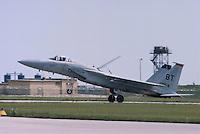 - F 15 Eagle fighter aircraft of the US Air Force on Aviano air base....- caccia F 15 Eagle dell' US Air Force sulla base aerea USA di Aviano......
