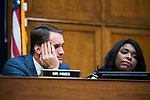 UNITED STATES - SEPTEMBER 26: Reps. Jim Himes, D-Conn., and Terri Sewell, D-Ala., attend the House Intelligence Committee hearing featuring testimony by Joseph Maguire, acting director of national intelligence, on a whistleblower complaint about a phone call between President Trump and Ukrainian President Volodymyr Zelensky, in Rayburn Building on Thursday, September 26, 2019. (Photo By Tom Williams/CQ Roll Call)