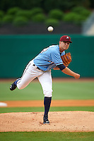 NW Arkansas Naturals pitcher Christian Binford (32) delivers a pitch during a game against the San Antonio Missions on May 30, 2015 at Arvest Ballpark in Springdale, Arkansas.  San Antonio defeated NW Arkansas 5-2.  (Mike Janes/Four Seam Images)