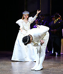 """Stephanie Styles and Corbin Bleu during the Broadway Opening Night Curtain Call for """"Kiss Me, Kate""""  at Studio 54 on March 14, 2019 in New York City."""