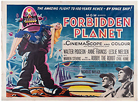 BNPS.co.uk (01202) 558833. <br /> Pic: Ewbank'sAuctions/BNPS<br /> <br /> Pictured: The marquee lot, a British quad 30ins by 40ins poster for Forbidden Planet, fetched £12,000. <br /> <br /> A selection of classic horror and sci-fi film posters have sold for £85,000.<br /> <br /> The marquee lot was a British quad 30ins by 40ins poster for Forbidden Planet which fetched £12,000, three times its estimate.<br /> <br /> It features the memorable first image of Robby the Robot holding a damsel in distress.<br /> <br /> A poster promoting the Christopher Lee film Dr Terror's House of Horrors (1965) also outperformed expectations, selling for £2,750, while one advertising the first Star Wars film (1977) fetched £4,750.<br /> <br /> The posters, which were consigned by different collectors, sparked a bidding war with Ewbank's Auctions, of Woking, Surrey.