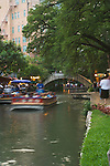 Texas, San Antonio, Sightseeing Barge on Riverwalk