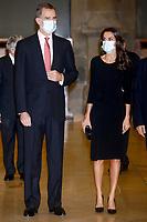 MADRID, SPAIN-November 18:  **NO SPAIN** Queen Letizia and King Felipe of Spain attend the Cerecedo Journalism Awards 2020 at the Prado Museum in Madrid, Spain on November 18, 2020. Credit: Jimmy Olsen/MediaPunch