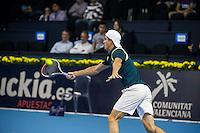 VALENCIA, SPAIN - OCTOBER 28: Guillermo Garcia Lopez during Valencia Open Tennis 2015 on October 28, 2015 in Valencia , Spain