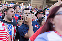 Santa Clara, CA - Friday June 3, 2016: USA fans watch the game. USA played Colombia in the opening match of the Copa América Centenario game at Levi's Stadium.