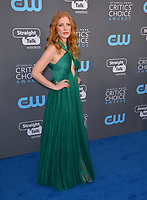 Jessica Chastain at the 23rd Annual Critics' Choice Awards at Barker Hangar, Santa Monica, USA 11 Jan. 2018<br /> Picture: Paul Smith/Featureflash/SilverHub 0208 004 5359 sales@silverhubmedia.com