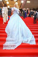 Angela Ismailos sur le tapis rouge pour la projection du film MISE A MORT DU CERF SACRE lors du soixante-dixième (70ème) Festival du Film à Cannes, Palais des Festivals et des Congres, Cannes, Sud de la France, lundi 22 mai 2017. Philippe FARJON / VISUAL Press Agency