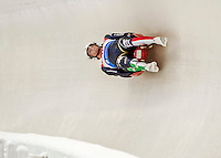 4 December 2015: Ludwig Rieder and Patrick Rastner, sliding for Italy, bank into a turn on their first run of the Doubles Competition during the Viessmann Luge World Cup Series at the Olympic Sports Track in Lake Placid, New York, USA. Mandatory Credit: Ed Wolfstein Photo *** RAW (NEF) Image File Available ***