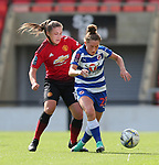 Katie Zelem of Manchester United Women and Rachel Rowe of Reading