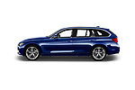 Car driver side profile view of a 2017 BMW 3 Series Touring Luxury 5 Door Wagon
