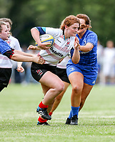 24 August 2019; Sophie Barrett during the Under 18 Girls Interprovincial Rugby Championship match between Ulster and Leinster at Armagh RFC in Armagh. Photo by John Dickson / DICKSONDIGITAL