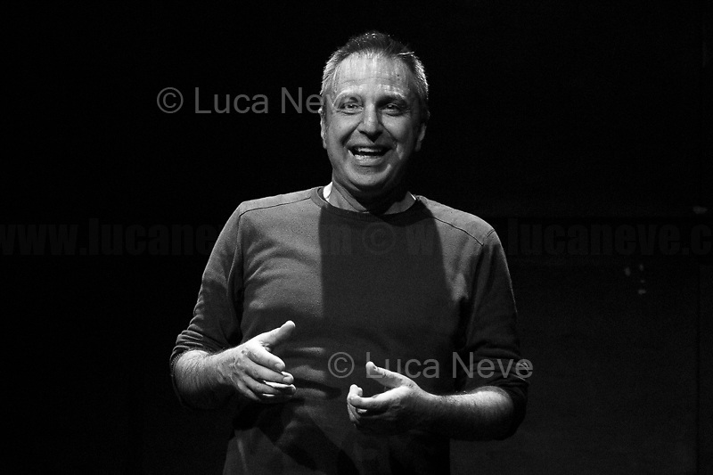 """Rome, 09/06/2019. Today, Spin Time Labs was the stage of the intense theater opera: """"U Parrinu – My Story With Padre Pino Puglisi Killed By The mafia"""". The independent production is written by and stars Christian Di Domenico, who first met Don Pino as a child. He has performed the piece 520 times in various locations (1. 2.). The 'Blessed' Catholic Priest Giuseppe 'Pino' Puglisi was killed on the evening of 15 September 1993, on the day of his 56th birthday by the Sicilian mafia """"cosa nostra"""". Variously known as Don Pino Puglisi, Padre Pino Puglisi, 3P, U' Parrinu, amongst others, he was murdered outside his home in the Palermitan neighborhood of Brancaccio, were he was born to a modest-working-class family and where, since 1990, he had worked as the Priest of San Gaetano's Parish. In Brancaccio, Don Pino is known for working tirelessly to rescue underprivileged children and teenagers (more info here: 3.).<br /> Spin Time Labs (4.) is in Rome and it is a """"Common good, urban regeneration project, multi-purpose cultural center: concert hall, conference hall, courses, theater, tavern, craft beer laboratory, carpentry, laboratories. [It organises] initiatives for children and social assistance activities"""". The former Inpdap HQ, abandoned for years, was occupied in 2013 and today houses 150+ families, in other words more than 430+ people, including hundred minors, 60% of whom are immigrants of 18 different nationalities and the rest are elderly and young Italian couples.<br /> <br /> Footnotes & Links:<br /> 1. https://www.facebook.com/uparrinu/ & https://christiandidomenico.wordpress.com/<br /> 2. My Photo-Story at Teatro Biondo in Palermo: 15.09.18 """"U Parrinu - My Story With Padre Pino Puglisi Killed By The mafia"""" http://bit.do/eU3tq<br /> 3. 15.09.18 Don Pino Puglisi & Papa Francesco, Palermo 15 September 2018 http://bit.do/eS4rV<br /> 4. https://www.spintimelabs.org & https://www.facebook.com/spintimelabs/<br /> <br /> (IN THE CAPTIONS OF THE LAST 2 PHOTOS CAN BE FOU"""