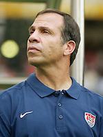 Head Coach Bruce Arena. The USA tied South Korea, 1-1, during the FIFA World Cup 2002 in Daegu, Korea.