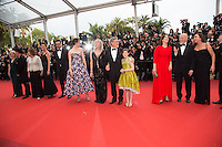 Frank Marshall, Kathleen Kennedy, Kate Capshaw, Steven Spielberg, Ruby Barnhill, Mark Rylance, Claire van Kampen, Lucy Dahl, Penelope Wilton and Jemaine Clement - CANNES 2016 - MONTEE DU FILM 'THE BFG (LE BON GROS GEANT)