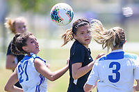 Irvine, CA - July 11, 2019: U.S. Soccer Girls' DA U-16/17 3rd Place Beach Futbol Club vs FC Dallas at Great Park.