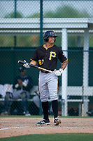 Pittsburgh Pirates Trace Tam Sing (97) during a minor league Spring Training game against the New York Yankees on April 1, 2016 at Pirate City in Bradenton, Florida.  (Mike Janes/Four Seam Images)