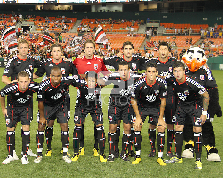 Starting eleven of D.C. United during an MLS match against the Houston Dynamo at RFK Stadium in Washington D.C. on September  25 2010.Houston won 3-1.