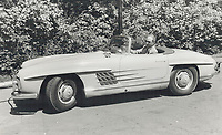 1979 FILE PHOTO - ARCHIVES -<br /> <br /> Pierre Trudeau and his vintage car,<br /> after stepping down as Prime Minister<br /> <br /> Bezant, Graham<br /> Picture, 1979<br /> <br /> 1979,<br /> <br /> PHOTO : Graham Bezant - Toronto Star Archives - AQP