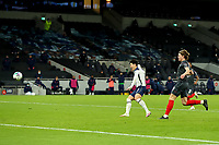 5th January 2021; Tottenham Hotspur Stadium, London, England; English Football League Cup Football, Carabao Cup, Tottenham Hotspur versus Brentford; Son Heung-Min of Tottenham Hotspur shoots and scores for 2-0 in the 70th minute