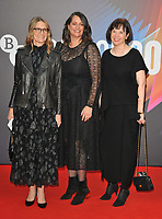 """Becca Kovacik, Laura Berwick and Tamar Thomas at the 65th BFI London Film Festival """"Belfast"""" American Airlines gala, Royal Festival Hall, Belvedere Road, on Tuesday 12th October 2021, in London, England, UK.  <br /> CAP/CAN<br /> ©CAN/Capital Pictures"""