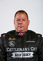 Feb 5, 2020; Pomona, CA, USA; NHRA funny car driver Jim Campbell poses for a portrait during NHRA Media Day at the Pomona Fairplex. Mandatory Credit: Mark J. Rebilas-USA TODAY Sports