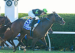 October 5, 2019: Bowies Hero, trained by Phil D'Amato, wins the Shadwell Turf Mile (G1) at Keeneland on October 5, 2019 in Lexington, KY. Jessica Morgan/ESW/CSM