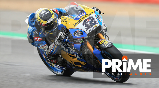 Thomas Luthi (12) of the EG 0 0 Marc VDS (Honda) race team during the GoPro British MotoGP at Silverstone Circuit, Towcester, England on 24 August 2018. Photo by Chris Brown / PRiME Media Images