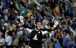 Getafe's Luis Garcia celebrates during Spain's King's Cup semi final match between Getafe and Barcelona at Coliseum Alfonso Perez in Getafe, Thursday May 10, 2007. (ALTERPHOTOS/Alvaro Hernandez).