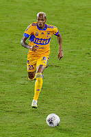 22nd December 2020, Orlando, Florida, USA;  Tigres Luis Quinones chases down the loose ball during the Concacaf Championship between LAFC and Tigres UANL on December 22, 2020, at Exploria Stadium in Orlando, FL.