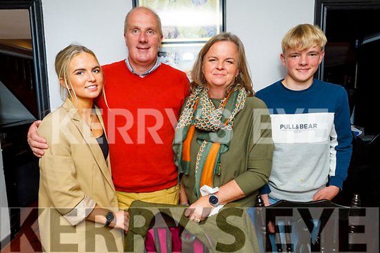 Amanda Bentley Curran and her husnand Peter from Tralee both celebrating their birthdays in Croi on Saturday.<br /> L to r: Isabelle Curran, Amanda Bentley Curran, Peter and Luke Curran