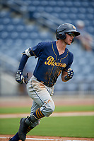 Montgomery Biscuits Miles Mastrobuoni (5) during a Southern League game against the Biloxi Shuckers on May 8, 2019 at MGM Park in Biloxi, Mississippi.  Biloxi defeated Montgomery 4-2.  (Mike Janes/Four Seam Images)
