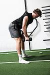 NELSON, NEW ZEALAND - JUNE 1: Sporting Profiles, NZ Breakers & NZ Tall Blacks Basketball player Finn Delany training at Tasman Performance Gym Monday 1 June  2020 , New Zealand. (Photo byEvan Barnes/ Shuttersport Limited)