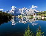 Italy, Veneto, Dolomites, Lago di Misurina and mountain range Sorapis (3.205 m)