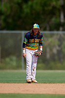 Jagger Smith during the WWBA World Championship at the Roger Dean Complex on October 20, 2018 in Jupiter, Florida.  Jagger Smith is a second baseman from Winnsboro, Louisiana who attends Family Community Christian School.  (Mike Janes/Four Seam Images)
