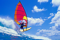 Windsurfing on the North Shore of Oahu.