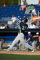 Vermont Lake Monsters outfielder Brett Siddall (13) at bat during a game against the Batavia Muckdogs August 9, 2015 at Dwyer Stadium in Batavia, New York.  Vermont defeated Batavia 11-5.  (Mike Janes/Four Seam Images)