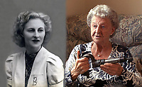 BNPS.co.uk (01202 558833)<br /> Pic: SecretSpitfires/BNPS<br /> <br /> Former 'Riveter girl' the late Betty Blackwell with her riveting gun.<br /> <br /> A campaign to build a memorial to honour the women and children who built over 2,000 Spitfires in secret to help win the Second World War has been launched.<br /> <br /> The little-known operation involved just a few hundred people who operated in requisitioned car garages, factories and workshops in the city of Salisbury.<br />  <br /> They built the legendary aircraft in piecemeal and worked with such discretion that the Wiltshire city's inhabitants were oblivious to it. <br /> <br /> The unsung workers were so prolific they accounted for one tenth of all Spitfires produced during the war.