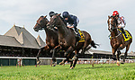August 07, 2021: Bolshoi Ballet #6, ridden by jockey Ryan Moore during the running of the the $1 million Saratoga Derby Invitational Stakes (Grade 1) on the turf at Saratoga Race Course in Saratoga Springs, N.Y. on August 7, 2021. Rob Simmons/Eclipse Sportswire/CSM