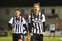 Grimsby Town players celebrate on the final whistle during the Vanarama National League match between Eastleigh and Grimsby Town at The Silverlake Stadium, Eastleigh, Hampshire on Nov 21, 2015. (Photo: Paul Paxford/PRiME)