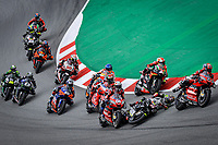 27th September 2020, Circuit de Barcelona Catalunya, Barcelona, MotoGp of Catalunya, Race Day;  Heavy crash takes both Johann Zarco and Andrea Dovizioso  off track and out of the race