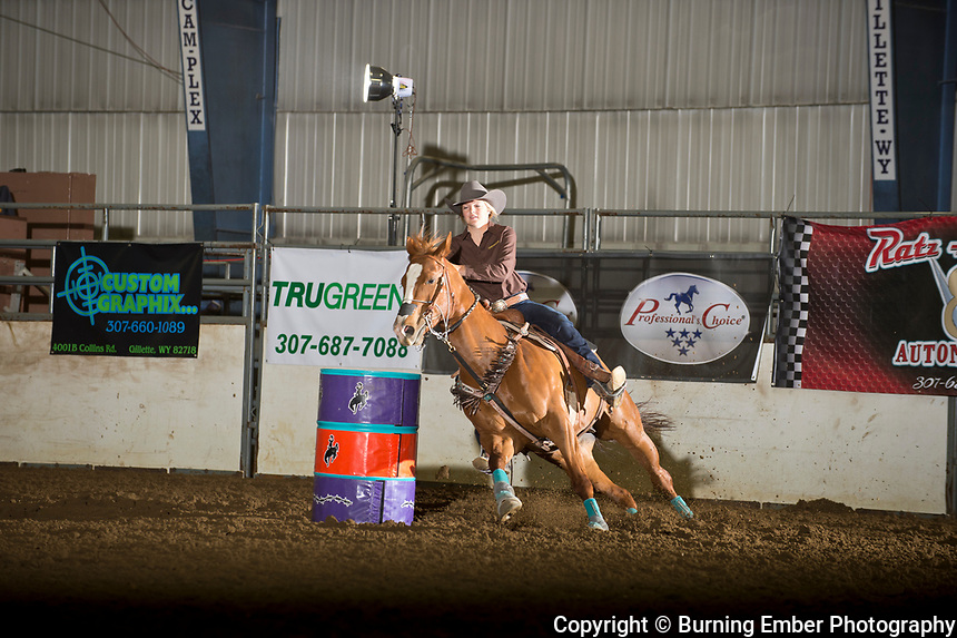 Sheyenne Jacobson in the Barrel event 1st go at the Gillette Wyoming High School Rodeo May 13th 2017.  Photo by Josh Homer/Burning Ember Photography.  Photo credit must be given on all uses.