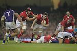 Luke Charteris supports Ryan Jones..Dove Men Series 2012.Wales v Samoa.Millennium Stadium.16.11.12.©Steve Pope - Sportingwales