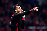 Goalkeeper Marinato Guilherme of FC Lokomotiv Moscow reacts during the UEFA Europa League 2017-18 Round of 16 (1st leg) match between Atletico de Madrid and FC Lokomotiv Moscow at Wanda Metropolitano  on March 08 2018 in Madrid, Spain. Photo by Diego Souto / Power Sport Images