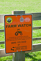 Sign for Farm Watch, the country cousin of Neighbourhood Watch.