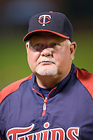 Minnesota Twins manager Ron Gardenhire during a Major League Baseball game against the Texas Rangers at the Rangers Ballpark in Arlington, Texas on July 27, 2011. Minnesota defeated Texas 7-2.  (Andrew Woolley/Four Seam Images)